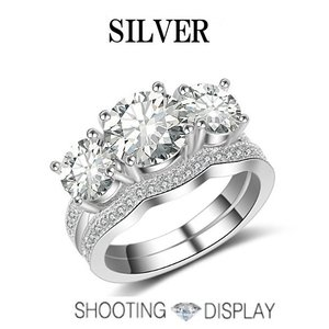 指輪 レディースハーフエタニティーリング 2点セット キュービックジルコニア czダイヤプラチナGP 女性 送料無料|angela-web