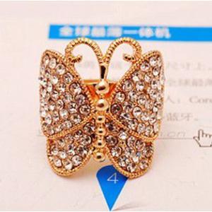 指輪レディース/きらきら 蝶々 リング|angela-web