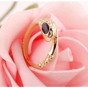 指輪レディース/シンプル スネーク ゴールドカラー リング 指輪|angela-web