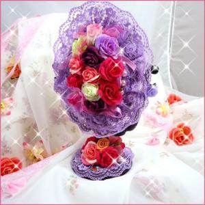 お花たっぷりスタンドミラー/ハンドメイド/デコ|angela-web