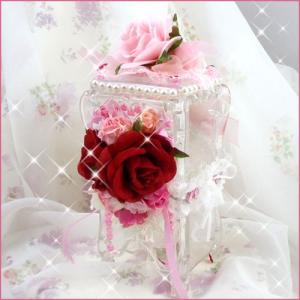お花のコットンケース/クリアタイプ/ハンドメイド/デコ|angela-web