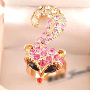 指輪 レディース/可愛いフォックスリング 指輪|angela-web