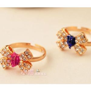 指輪 レディース/リング リボン ビジュー 指輪|angela-web