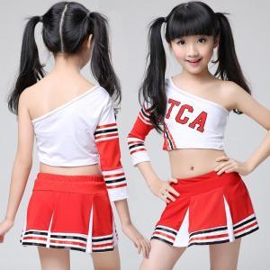 キッズ チアガール 衣装 体操服 チアダンス チアリーダー 衣装 ダンスウェア ダンス衣装 女の子 発表会 キッズ ダンス衣装 セットアップ ステージ衣装