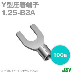 JST 裸圧着端子 Y形端子 1.25-B3A 100個 メール便OK 日本圧着端子製造 (日圧) NN|angelhamshopjapan