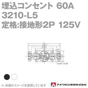 取寄 アメリカン電機 3210-L5 埋込コンセント 60A (定格:接地形2P 125V NEMA L5-20) (黒) SN|angelhamshopjapan