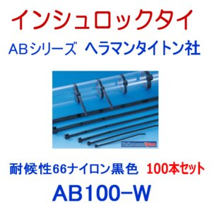 ヘラマンタイトン AB100-W-100P インシュロック ABタイ (100本セット) (66ナイロン製) (耐候グレード) (黒色) NN angelhamshopjapan