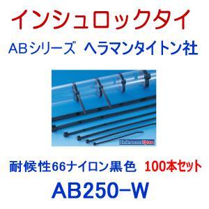 ヘラマンタイトン AB250-W-100P インシュロック ABタイ (100本セット) (66ナイロン製) (耐候グレード) (黒色) NN angelhamshopjapan