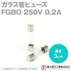 在庫有 富士端子 FGBO ガラス管ヒューズ 1個 カートリッジタイプ (定格: AC250V 0.2A) (長さ: 3cm) (B種溶断型) NN|angelhamshopjapan