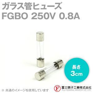 在庫有 富士端子 FGBO ガラス管ヒューズ 1個 カートリッジタイプ (定格: AC250V 0.8A) (長さ: 3cm) (B種溶断型) NN|angelhamshopjapan