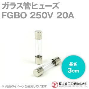 在庫有 富士端子 FGBO ガラス管ヒューズ 1個 カートリッジタイプ (定格: AC250V 20A) (長さ: 3cm) (B種溶断型) NN|angelhamshopjapan