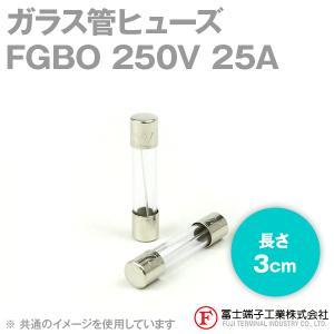 在庫有 富士端子 FGBO ガラス管ヒューズ 1個 カートリッジタイプ (定格: AC250V 25A) (長さ: 3cm) (B種溶断型) NN|angelhamshopjapan