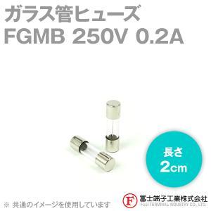 在庫有 富士端子 FGMB ガラス管ヒューズ 1個 カートリッジタイプ (定格: AC250V 0.2A) (長さ: 2cm) (B種溶断型) NN|angelhamshopjapan