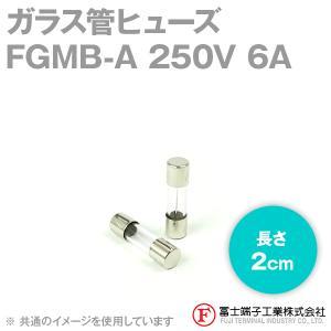 在庫有 富士端子 FGMB-A ガラス管ヒューズ 1個 カートリッジタイプ (定格: AC250V 6A) (長さ: 2cm) (B種溶断型) NN|angelhamshopjapan
