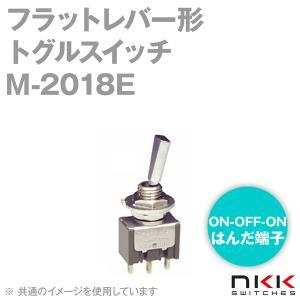 NKKスイッチズ M-2018E フラットレバー形トグルスイッチ (モーメンタリ) (ON-OFF-ON) (単極双投回路) (はんだ端子) (取付け穴 φ6.5mm) NN|angelhamshopjapan
