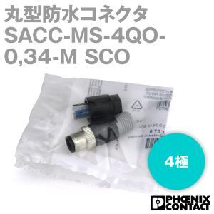 フェニックスコンタクト 丸型防水コネクタ SACC-MS-4QO-0,34-M SCO 4極NN|angelhamshopjapan