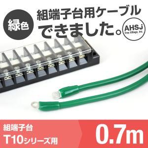 T10用 緑色 0.7m 端子台接続ケーブル (KIV 5.5sq 丸型圧着端子 5.5−S4) TV|angelhamshopjapan