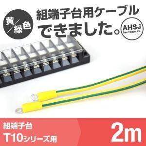 T10用 黄/緑色 2m 端子台接続ケーブル (KIV 5.5sq 丸型圧着端子 5.5−S4) TV|angelhamshopjapan