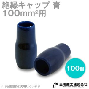 絶縁キャップ (青・ブルー) 100sq対応 100個 TCV-1001-03 NN|angelhamshopjapan