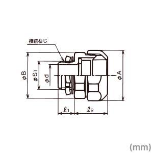 三桂製作所 電線管 WBG38 ノックアウト用コネクタ (厚鋼電線管おねじ付き) ユニオン式 防水プリカチューブ用ボックスコネクタ 10個 SD|angelhamshopjapan|02