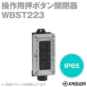 パトライト(旧春日電機) WBST223 操作用押ボタン開閉器 (強力防雨形) (一般可逆) (IP65) (FOR. REV. STOP) NN|angelhamshopjapan