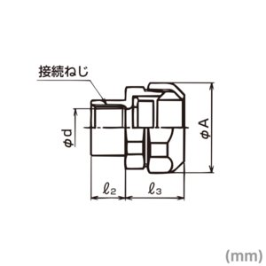 三桂製作所 電線管 WUC63 ユニオンカップコネクタ (防水プリカチューブ+ねじ付き薄鋼電線管接続用)  防水プリカ用コンビネーションカップリング 5個 SD|angelhamshopjapan|02