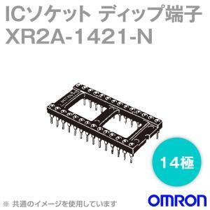 取寄 オムロン(OMRON) XR2A-1421-N 形XR2A オープンフレームタイプ ディップ端子 14極 (金フラッシュメッキ) (34個入) NN|angelhamshopjapan