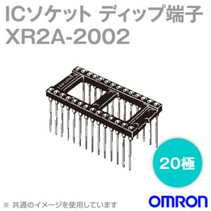 取寄 オムロン(OMRON) XR2A-2002 形XR2A オープンフレームタイプ ラッピング端子 20極 (金メッキ0.75μm) (24個入) NN|angelhamshopjapan