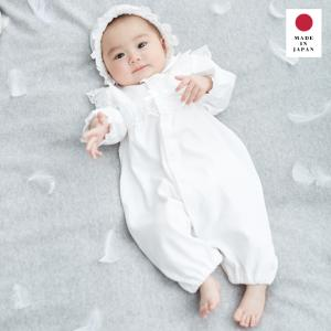 ベビー 日本製 新生児スムースドレス&帽子セット 赤ちゃん ベビー服 ベビーウェア セレモニードレス お宮参り 記念日 お披露目 お出かけ|angeliebe