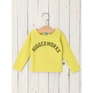 c91ff7f0947f6 ... ベビー 服 日本製 RUGGED WORKS ロゴロングTシャツ ベビー 赤ちゃん ベビー服 ベビーウェア トップス