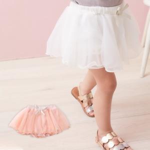 0f78347eb9f945 ベビー 服 スカート ブルマ Kids zoo シフォンスカート付ブルマ 子供服 キッズ 女の子 おんなのこ かわいい おしゃれ 赤ちゃん