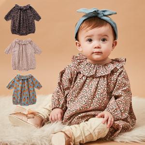 ベビー服 おしゃれ  日本製  Boribon ouef ピエロ衿 ロンパース 女の子 赤ちゃん ベビー用品 70 80 キッズ|angeliebe