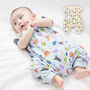 ベビー服 Ampersand 恐竜プリントロンパース カバーオール ベビー服 男の子 キッズ  赤ちゃん 出産祝い 長袖 ベビー かっこいい かわいい|angeliebe