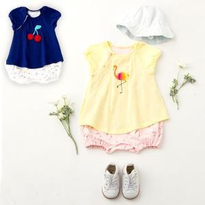 ベビー服 moujonjon モチーフワンピ ボディ 女の子 キッズ 子供服 かわいい おしゃれ 赤ちゃん 春 夏 70 80 セット チェリー 柄|angeliebe