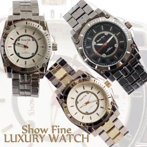 SHOWFINE男性用メンズ腕時計 ルフィーノ  Mens ラグジュアリー メタルウォッチアナログ電池式クォーツアディダスG-SHOCK好きにも|angelina