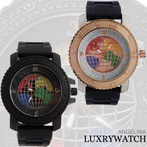 メンズ ロドリー ラグジュアリー腕時計 ブリンブリン ワールドラメラバーベルトウォッチ 電池式 レディースメンズアナログクォーツ とけい 海外モデル|angelina