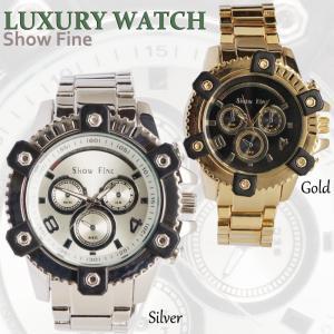 SHOWFINE男性用メンズ腕時計 フェリックス Mens ラグジュアリー クロノグラフメタルウォッチアナログ電池式クォーツアディダスG-SHOCK好きにも angelina