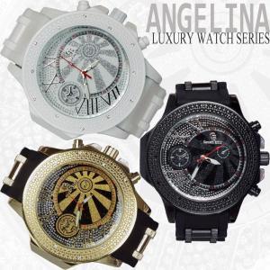 メンズ Captain Bling オリバー ラグジュアリー腕時計 ブリンブリンラメ クロノグラフラバーベルトウォッチ  とけい  ロレックス ディーゼル 好きにも|angelina