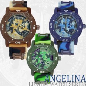 メンズ Captain Bling エイディー ラグジュアリー腕時計 カモフラ迷彩ラメ クロノグラフラバーベルトウォッチ とけい アディダス  G-SHOCK  好きにも|angelina