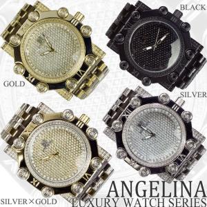 Captain Bling 男性用メンズ腕時計 コーネリア Mens ラグジュアリー チェック格子柄 メタル ウォッチ うでどけい ヴィヴィアン ロレックス 好きにも|angelina