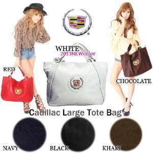 2013新色ホワイト!CADILLACキャデラックメッシュトートバッグ(CADI、ブラック、ホワイト、ブラウン、レッド、ネイビー、カーキ、GM,正規品)|angelina