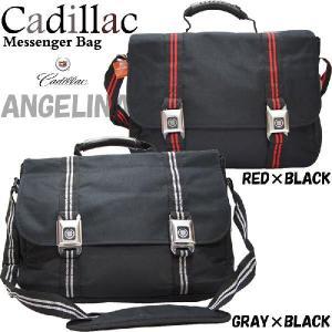 【男女兼用】キャデラックキーホルダーバックル付きバイエールメッセンジャーバッグ(Cadillac Messenger Bag公式ライセンスGMシール付1万円以上送料無料)|angelina