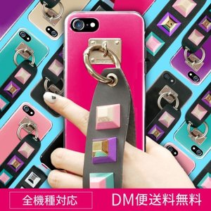 iPhone7 ケース ハードケース iPhone8 ケース スマホケース 全機種対応 iPhone8 Plus iPhone X Xperia XZs Galaxy S8 iPhone6s スタッズ ストラップ デコ angelique-girlish
