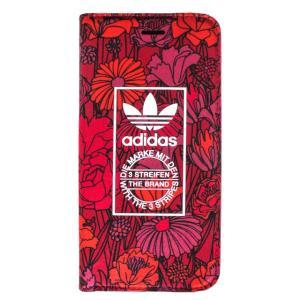 adidas アディダス iPhone7 ケース 手帳型 ブランド 手帳 アイホン7 ケース 花柄 Bohemian Red