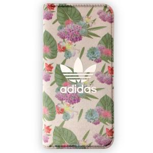 iPhone6s iPhoen6 手帳型ケース adidas アディダス Flower ブランド