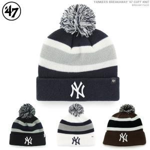 NYヤンキース ニット帽 47Brand キャップ ビーニー MLB 帽子|angelitta