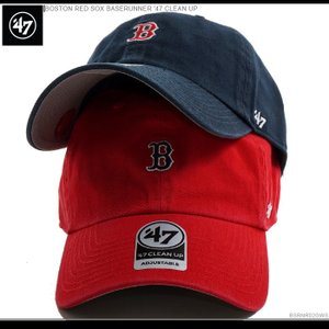 47 Brand キャップ スナップバック レッドソックス BOSTON RED SOX BASERUNNER '47 CLEAN UP バックベルト キャップ|angelitta