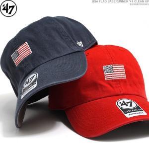47 Brand キャップ ストラップバック 星条旗 USA FLAG BASERUNNER '47 CLEAN UP/|angelitta