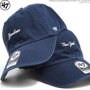 47 Brand キャップ ヤンキース YANKEES BASERUNNER SCRIPT '47 CLEAN UP/ ストラップバック/|angelitta