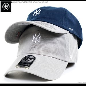 47Brand キャップ ヤンキース スナップバック YANKEES CENTERFIELD 47 CLEAN UP CAP|angelitta